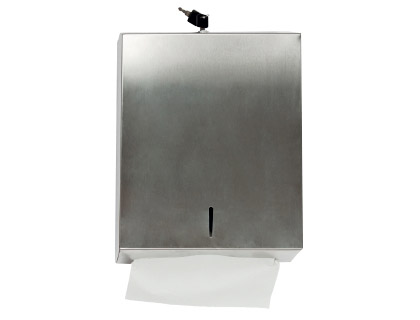 Dispensador q-connect de toallitas de papel acero inoxidable 283x100x365 mm