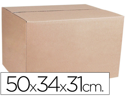 Caja para embalar q-connect medidas 500x340x310 mm espesor carton 4,9 mm