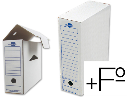 Caja archivo definitivo liderpapel folio prolongado 388x275x116 mm 325 g/m2