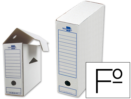 Caja archivo definitivo liderpapel 104 folio 365x251x100 mm 325 g/m2