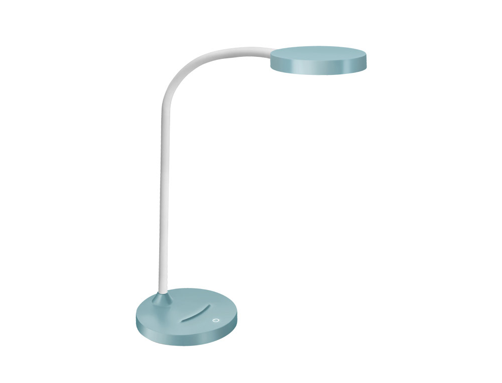 Lampara de oficina cep flex plastico led 4 w brazo flexible tactil color verde menta 160x600 mm