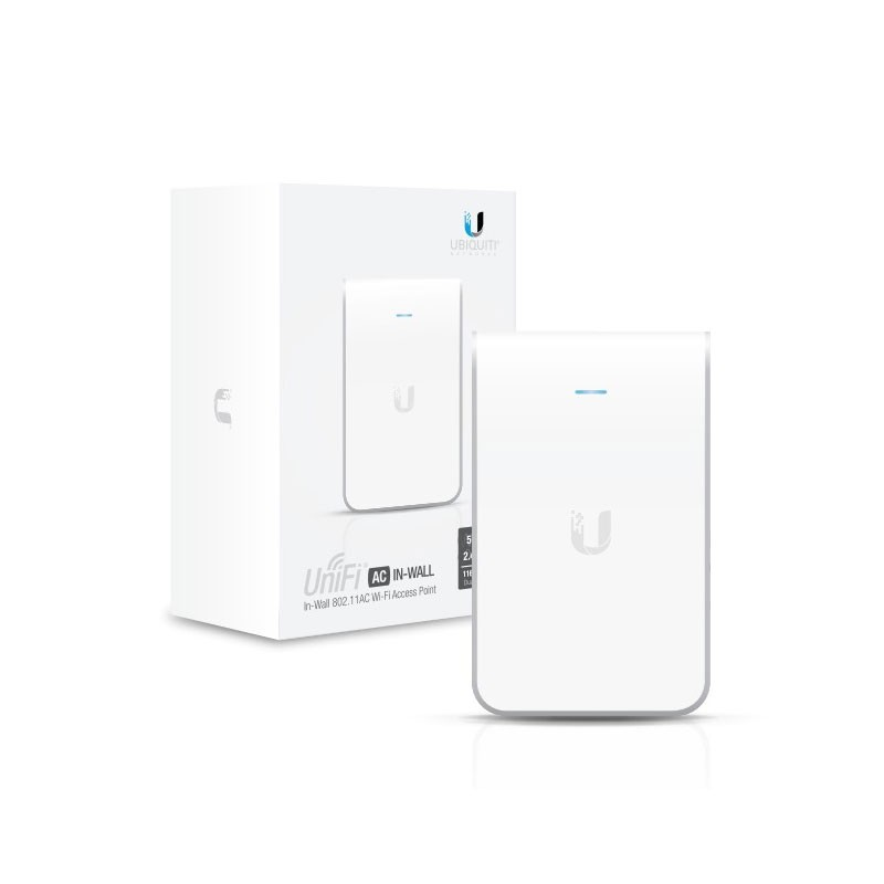 UBIQUITI UNIFI PUNTO DE ACCESO INDOOR 2.4 GHz 5GHz UAP-AC-IW IN WALL SIN POE