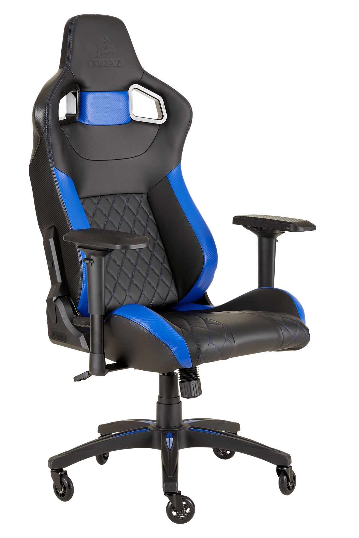 SILLA GAMING  CORSAIR T1 RACE BLACK AND BLUE