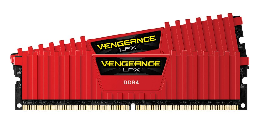 MEMORIA KIT DDR4  16GB(2X8GB) PC4-32000 4000MHZ CORSAIR VENGEANCE ROJA