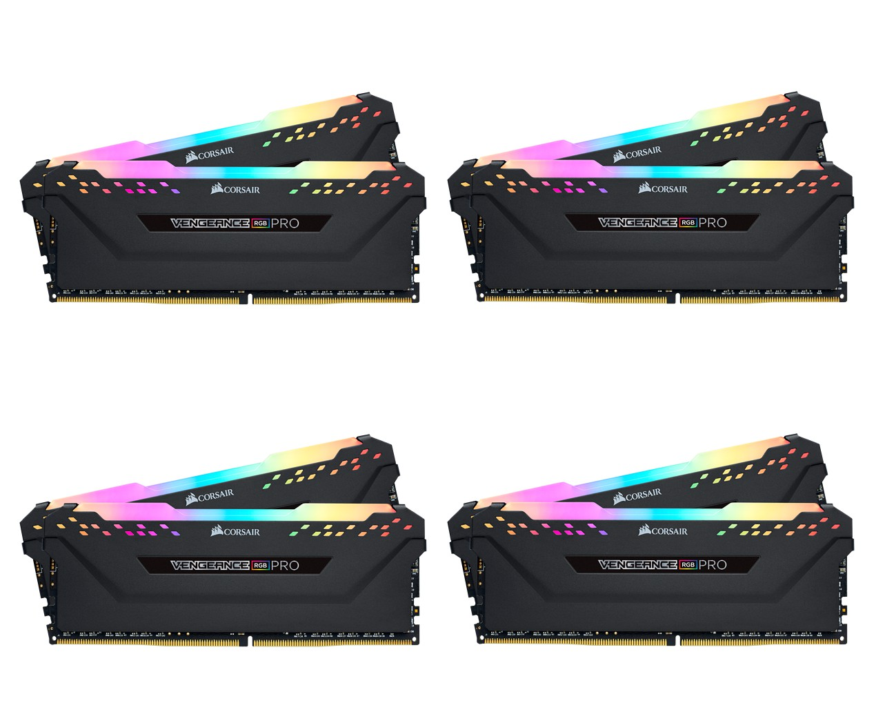 MEMORIA KIT DDR4  64GB(8X8GB) PC4-32000 4000MHZ CORSAIR VENGEANCE RGB PRO C19