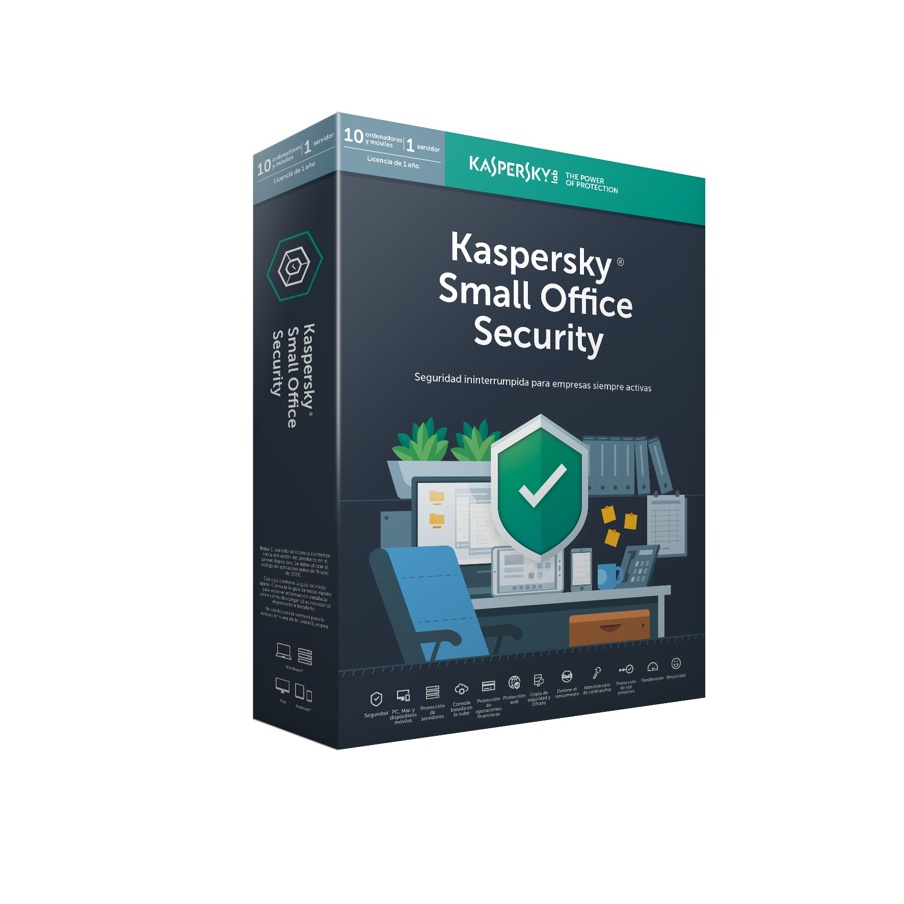 SOFTWARE ANTIVIRUS KASPERSKY SMALL OFFICE SECURITY 6.0 SERVIDOR + 10 PC