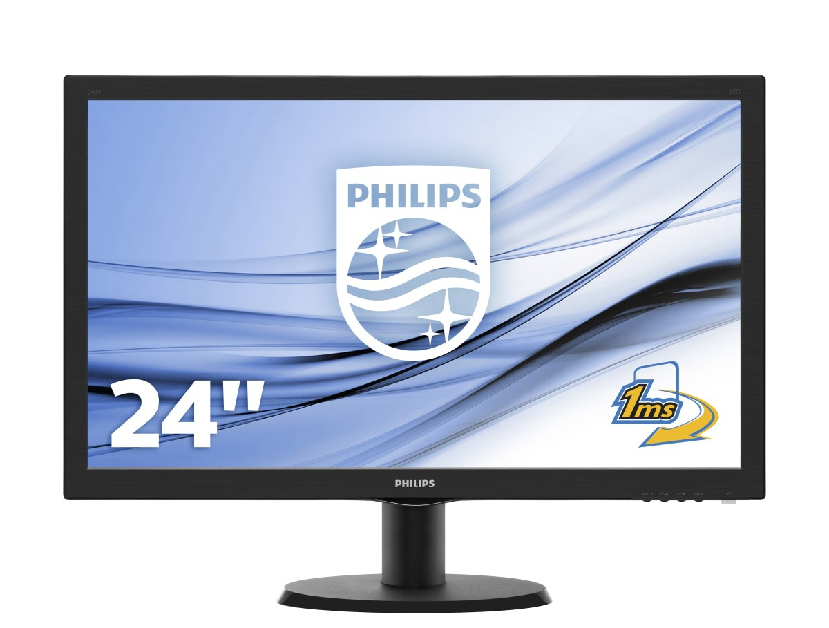 MONITOR LED 23,6 PHILIPS 243V5LHSB/00 HDMI DVI VGA